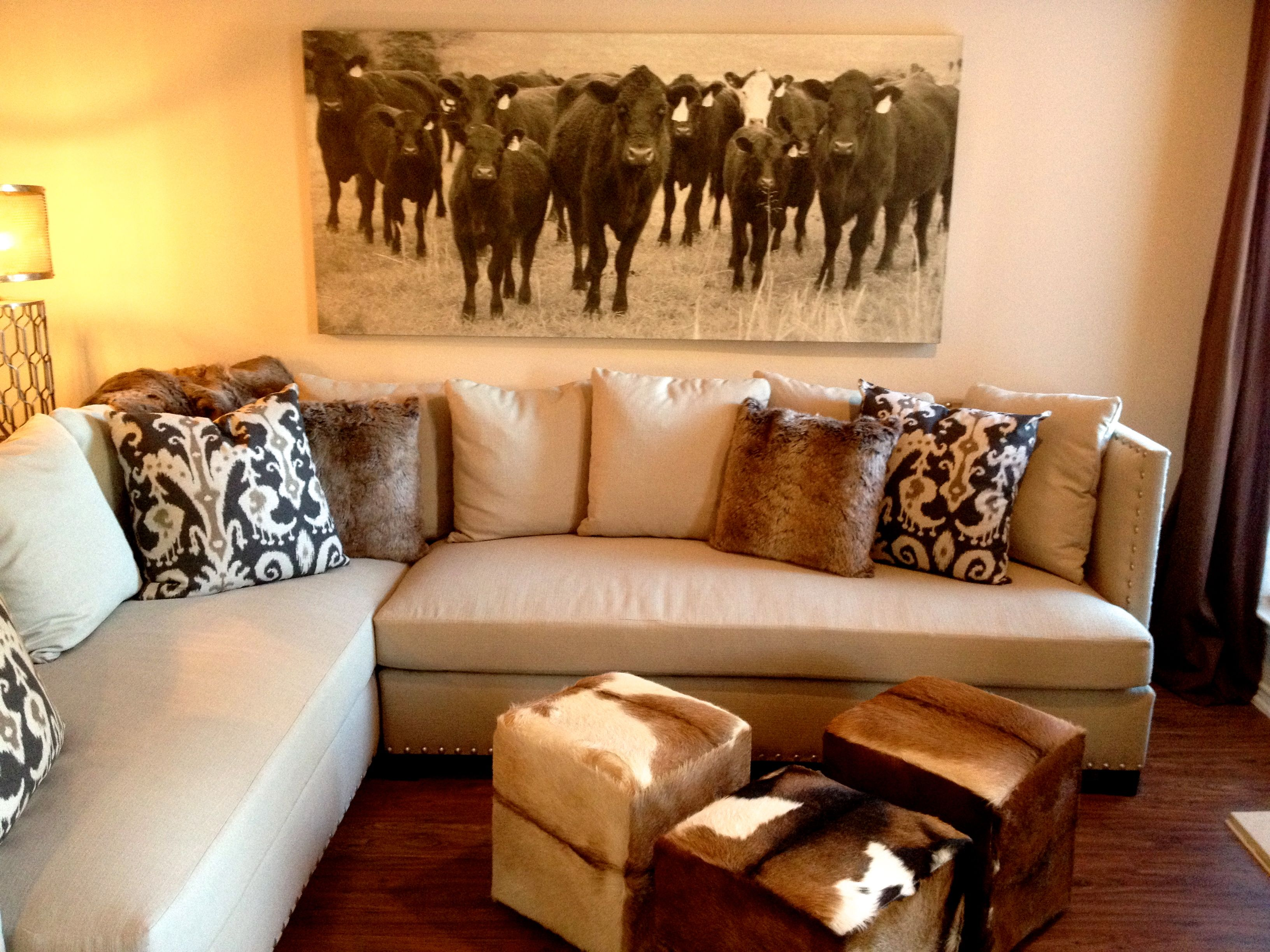 The antiqued canvas print is a quirky piece that adds a