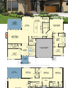 Perfect for your rear sloping lot architectural designs house plan jd over sq also bed modern the rh pinterest