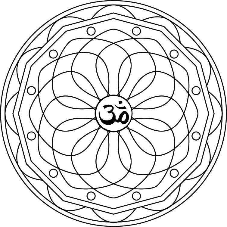 Mandala Kuan Yin Mandala para pintar inspirado en la Diosa