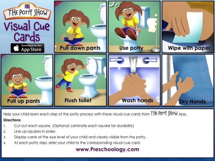 Autism Visual Schedule Potty Training Girls