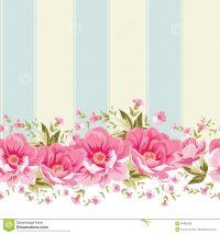 Vintage flower border