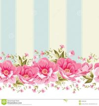 Vintage flower border | Ornate pink flower border with ...