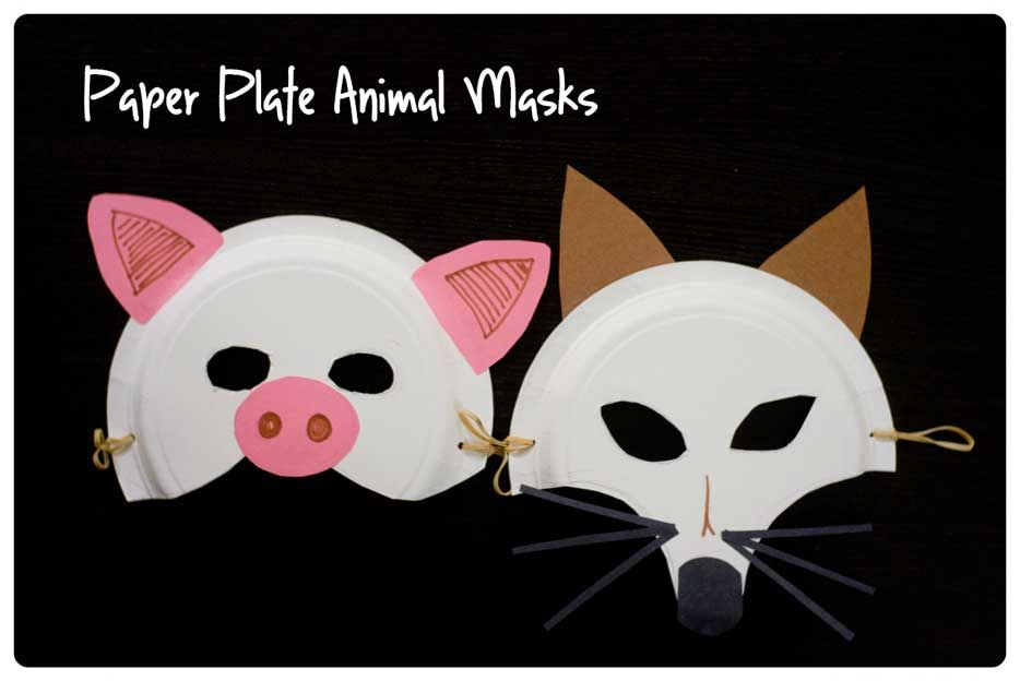 Paper Plate Animal Masks.