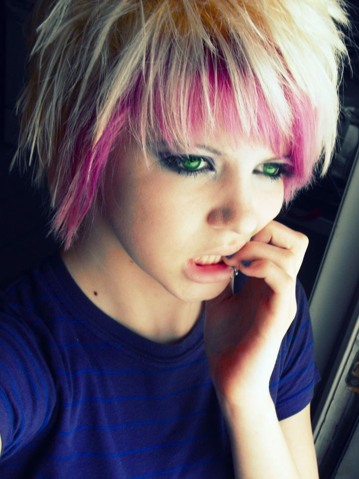 Scene Girls with Pink Hair