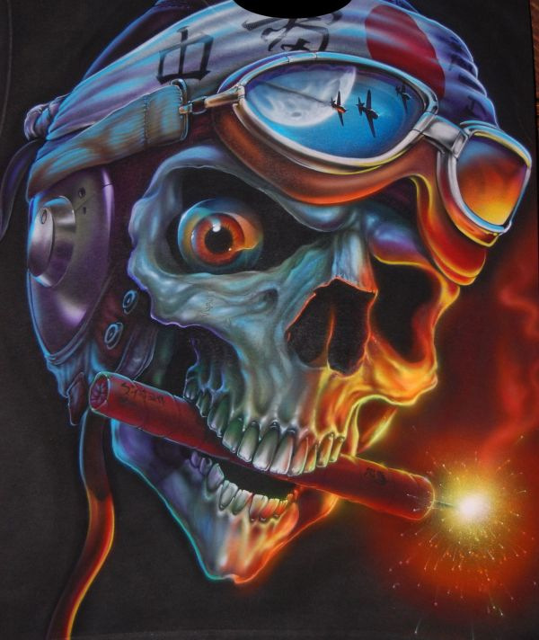 Wicked Art Skull Airbrush