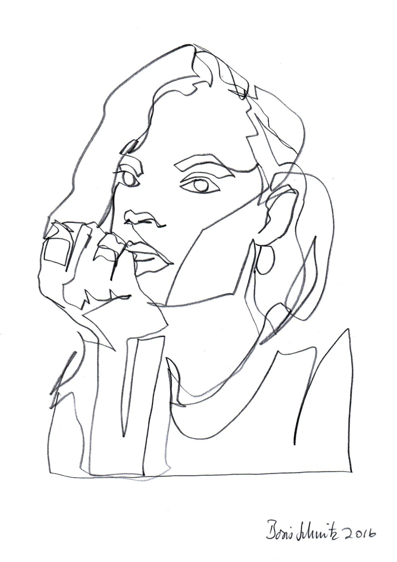 Continuous line drawing by Boris Schmitz Week 1