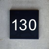 luxello modern neutra house numbers led backlit