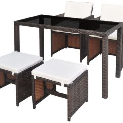 Rattan Garden Chairs And Table Wicker Swivel Glider Chair Furniture Outdoor Dining Set Stool Brown Modern Patio