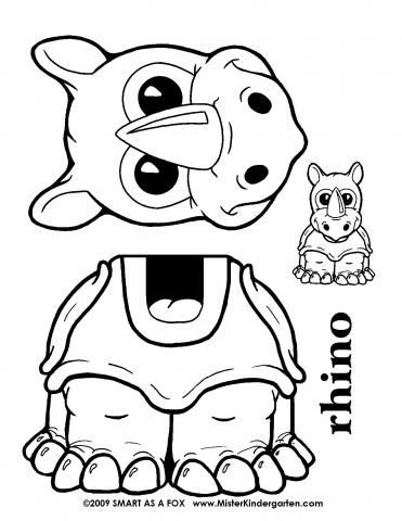 Turtle Puppet Template
