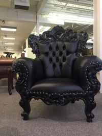 Black Gothic Ornate Mahogany French Baroque Rococo King ...