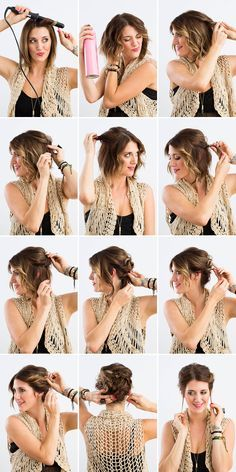 3 Fancy Updos For Short Hair Updo Short Hair And Short