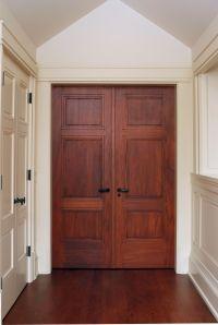 Custom 3 panel Mahogany interior double door with
