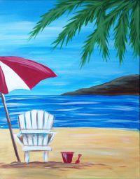 Chairs : Beach Chair Painting Alan Metzger Regarding Beach ...