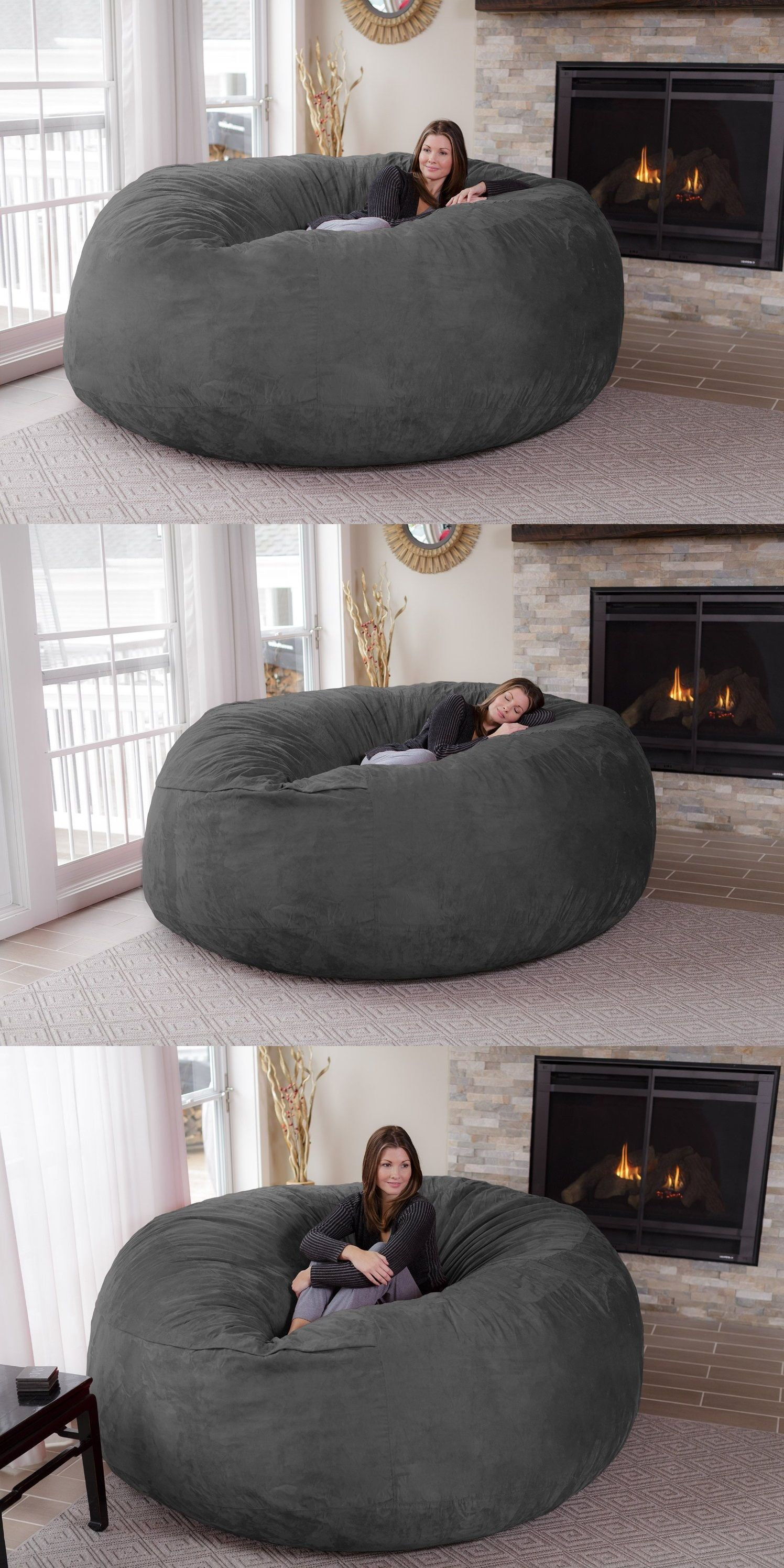 hanging bean bag chair office covers bed bath and beyond jumbo home decor pinterest chairs