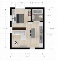 20ftx24ft Cabin or studio apartment layout | Compact ...