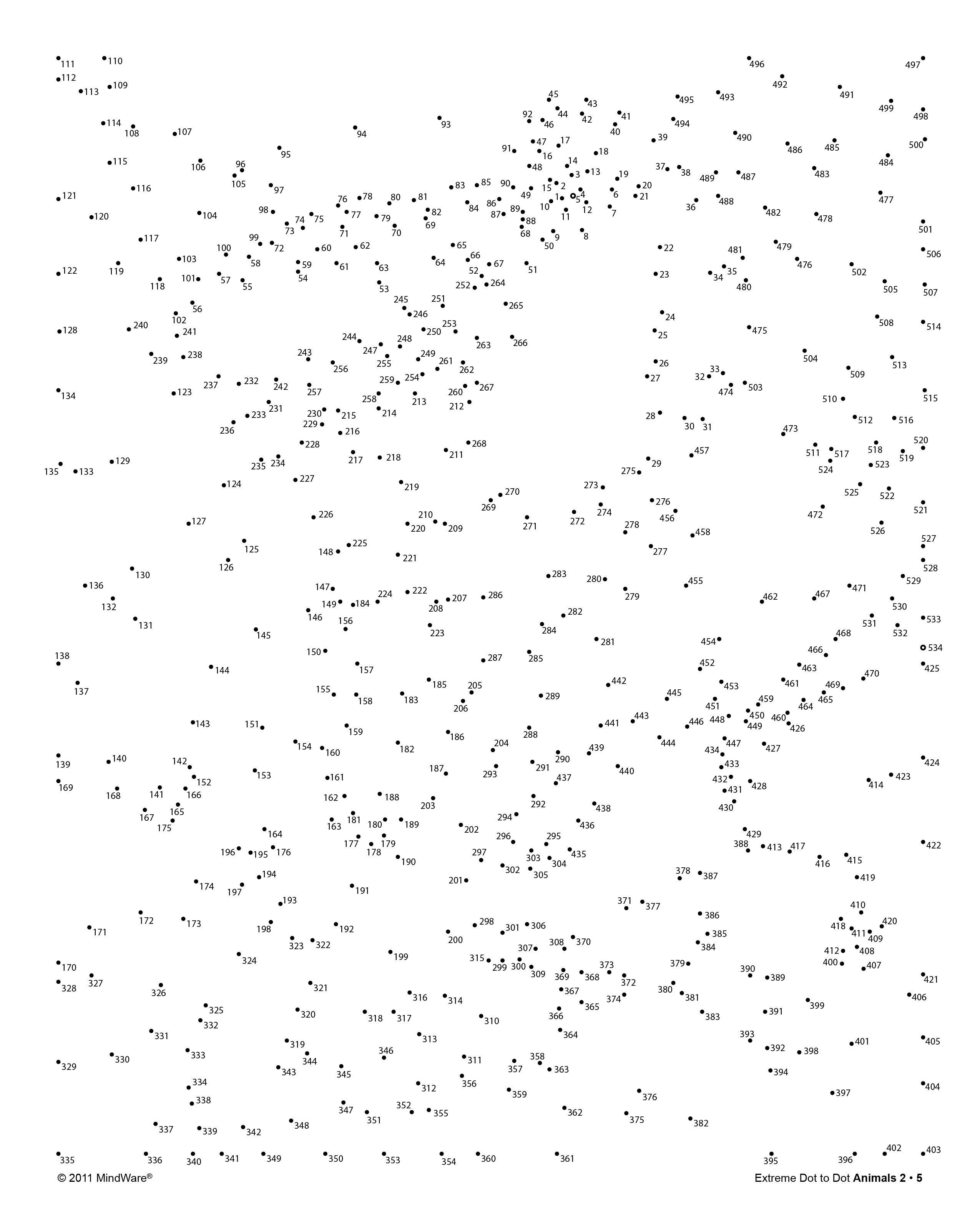 Extreme Dot To Dot Printable