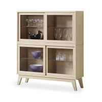 Furniture, : Cool Pine Wood Display Cabinet For Saving ...