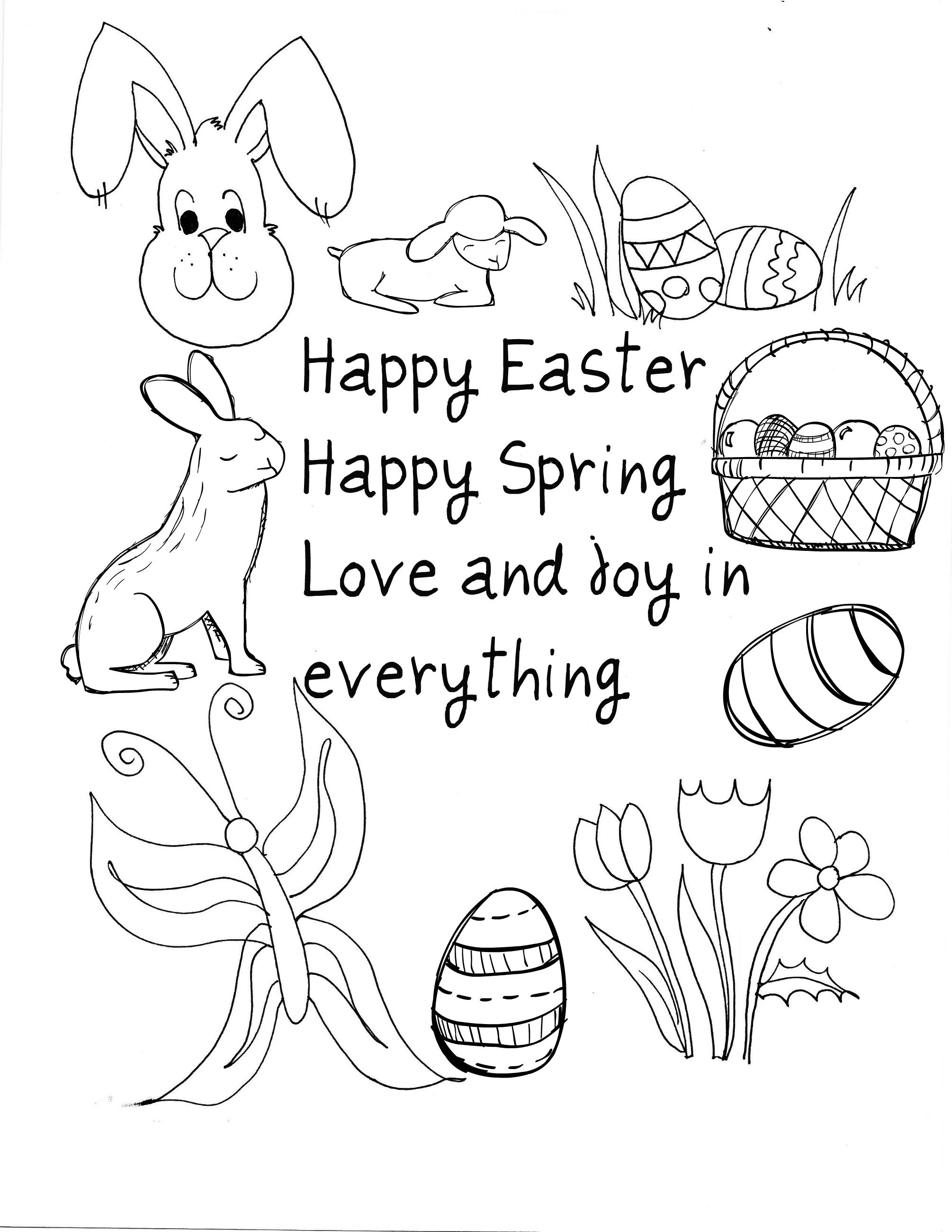 10 Easter Printable Cards To Color. I just clicked on the