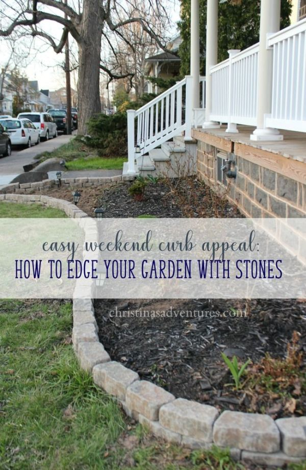 easy curb appeal garden edging