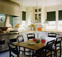 Love the look of a kitchen table instead of an island ...