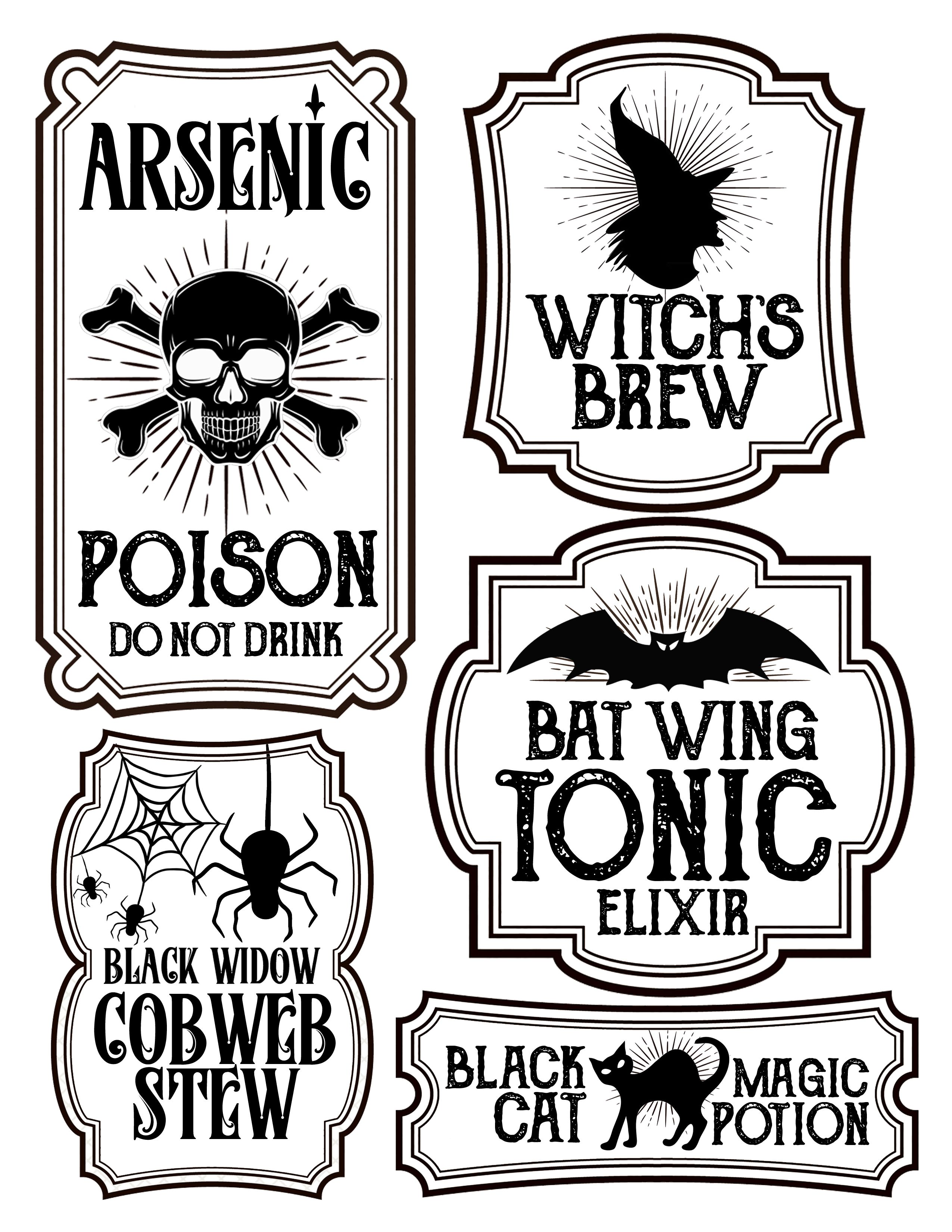 Halloween Labels 2 550 3 300 Pixels