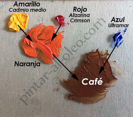 Cmo hacer color caf o marrn con pintura  Pintar al