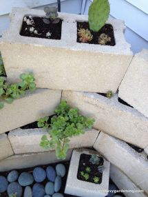 Building Concrete Block Planter Planters