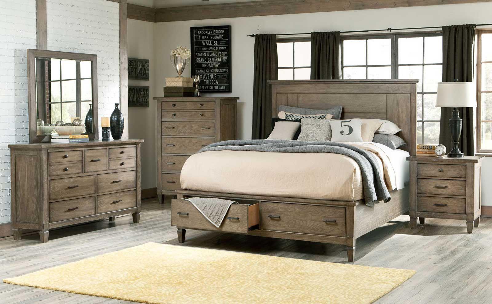 Image result for wood king size bedroom sets  Farm house