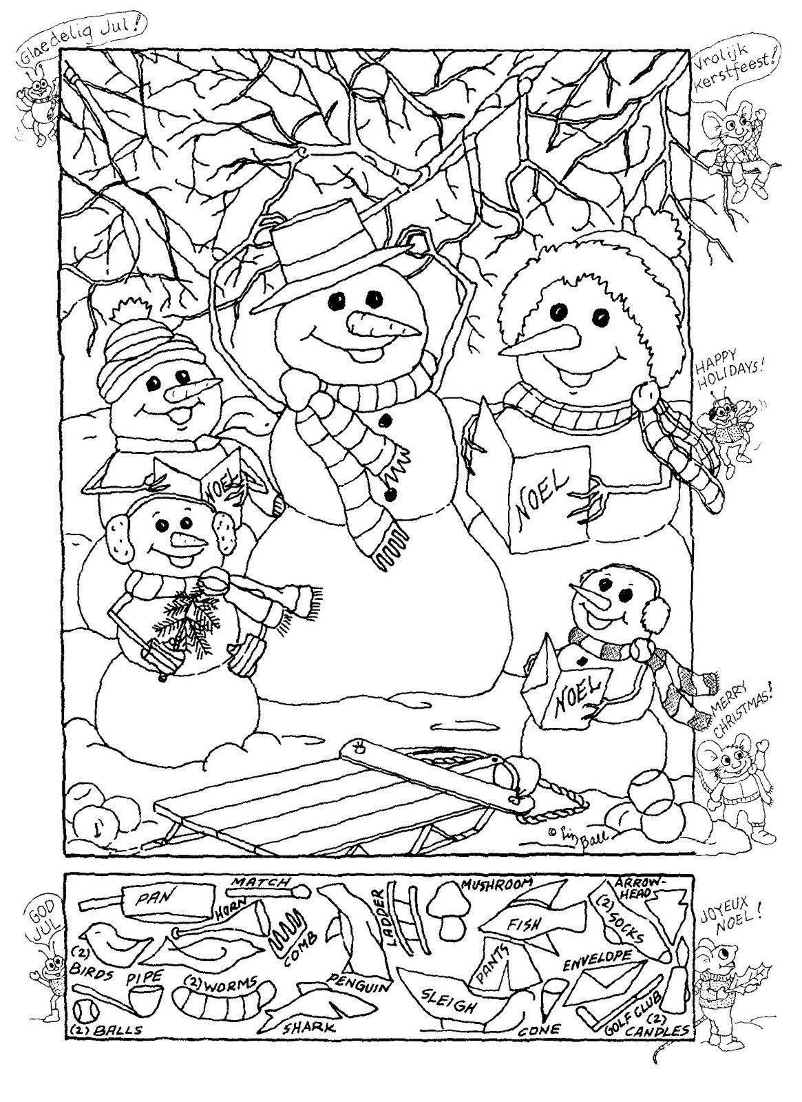 Hidden Pictures Publishing: Snowman Hidden Picture Puzzle