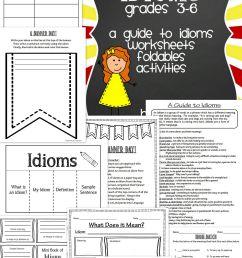 Grade 3 Idiom Worksheet Write An Idiom [ 5120 x 3072 Pixel ]