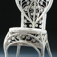Wrought Iron Rocking Chair Covers For Roll Top Dining Chairs 794: A Wicker With Heart Shaped Back. Height 34 : Lot 794 | Dream House Pinterest ...