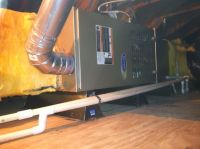 Attic Horizontal Furnace Installation