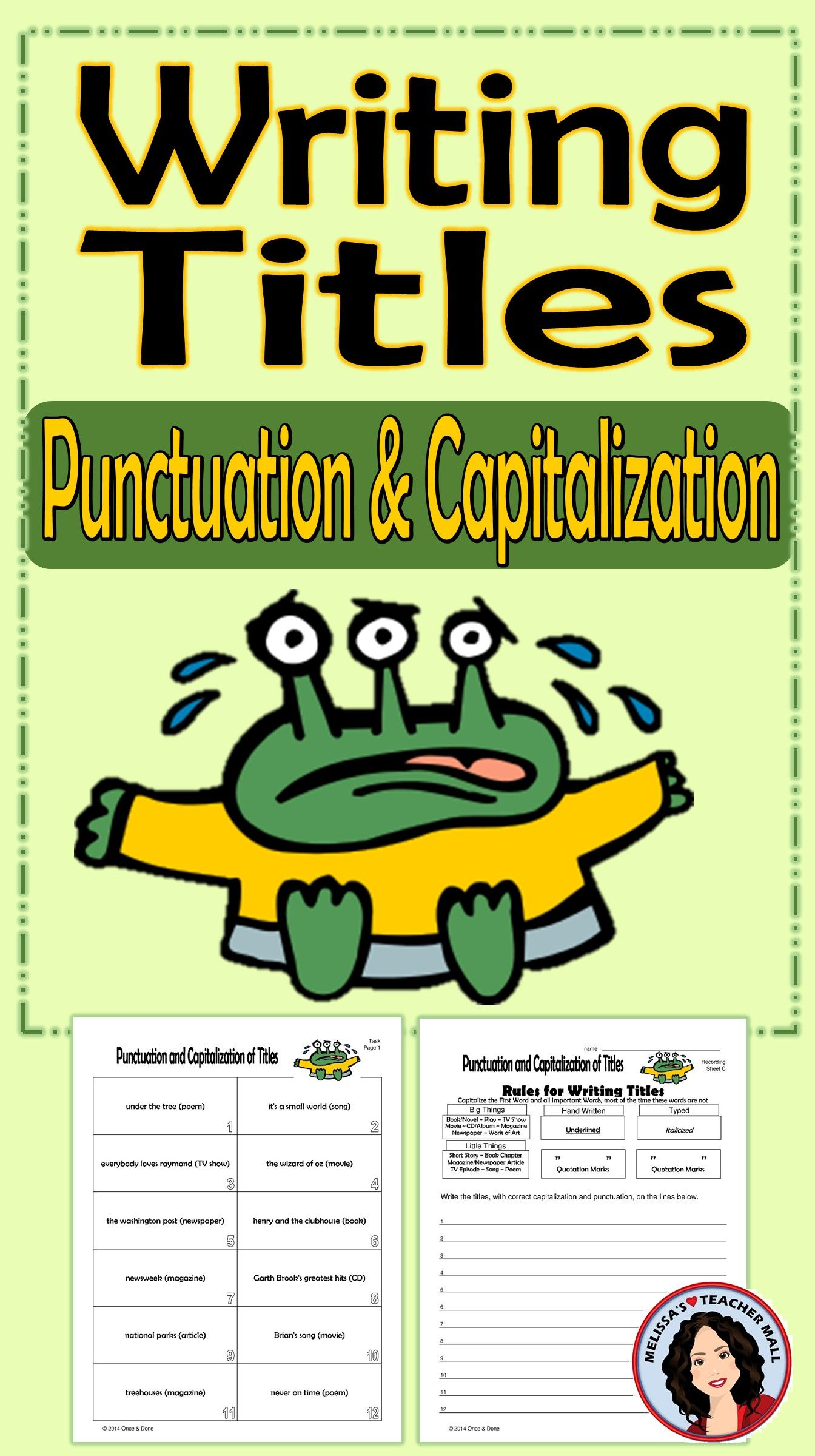 Writing Titles Punctuation And Capitalization Rules