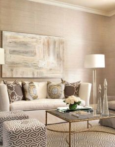 In the formal living room designer laurie pearson paired  custom sofa upholstered linen from kravet with two ottomans covered lee jofa also image result for tiny great layout decoracion pinterest rh