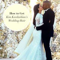 how to get Kim Kardashian's wedding hair | Beauty Board ...