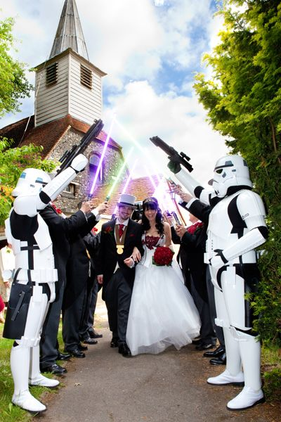 Star Wars Wedding on Pinterest  Star Trek Wedding Geek Wedding Invitations and Comic Book Wedding