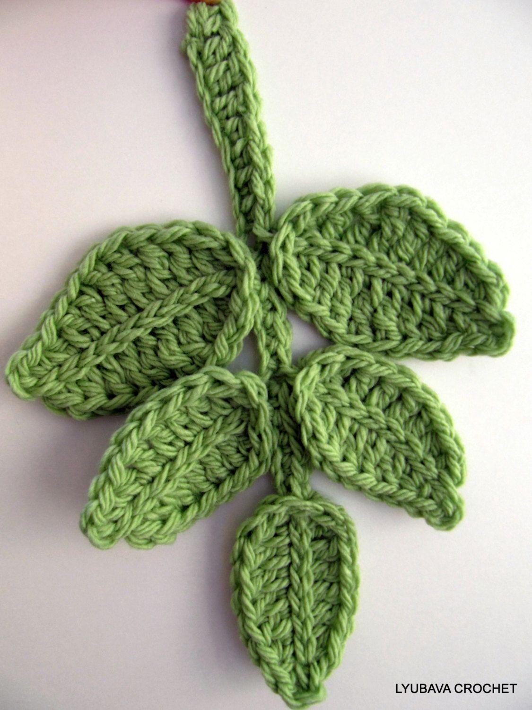 free leaf crochet pattern diagram suzuki swift wiring branch flower