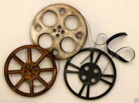 HOME THEATER WALL ART MOVIE REELS THEATRE DECOR RETRO ROOM ...