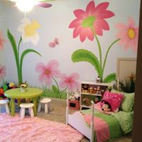 Painted wall flowers | My Little Girls Room | Pinterest ...