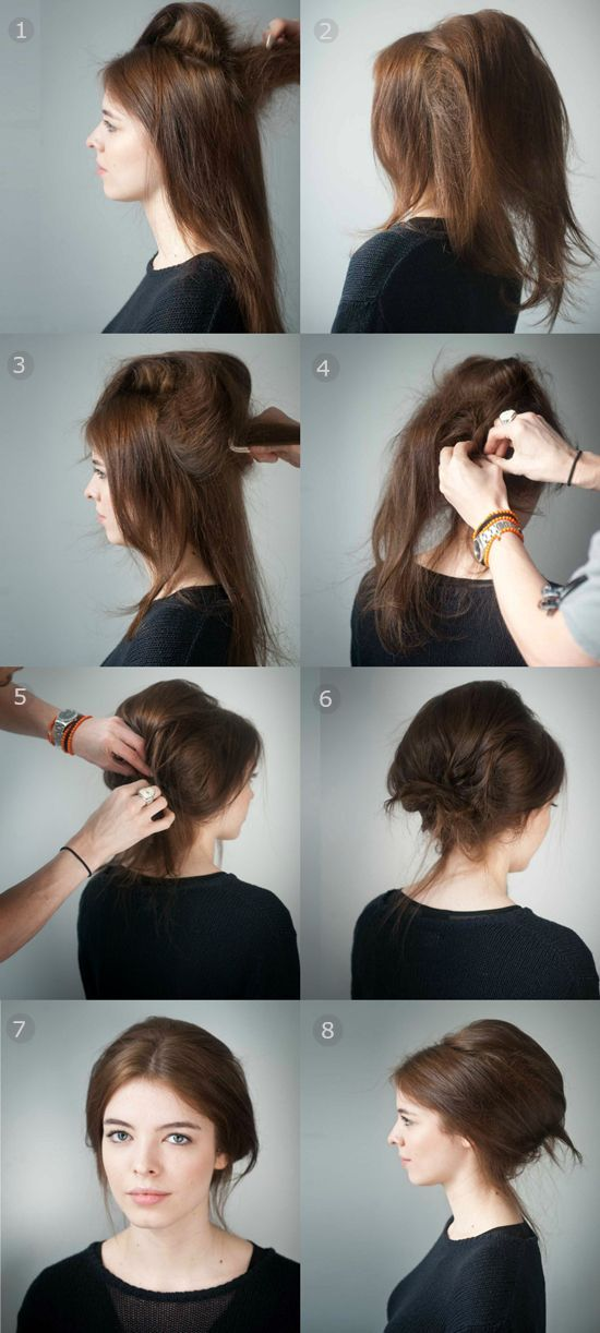 Easy Beehive Hairstyle Hair Tutorials Pinterest Instructions