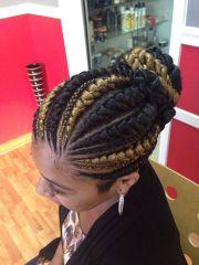 big cornrow hairstyles women