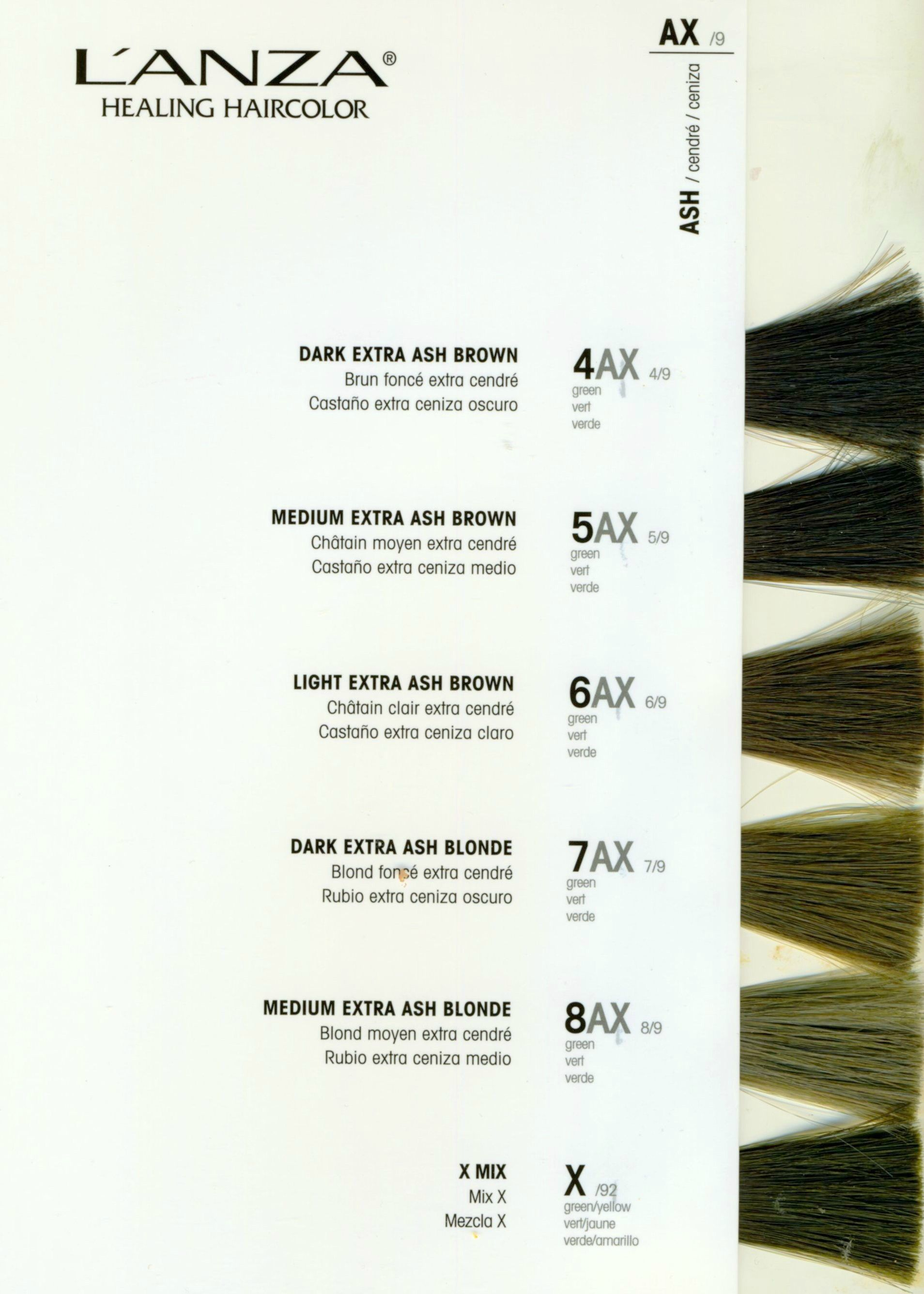 New Lanza Color Swatch Chart