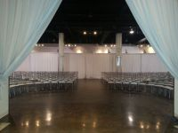 Setting up for a wedding ceremony at The Warehouse Event ...