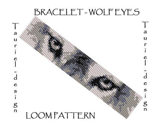 Loom bracelet pattern using Miyuki Delica seed beads. This