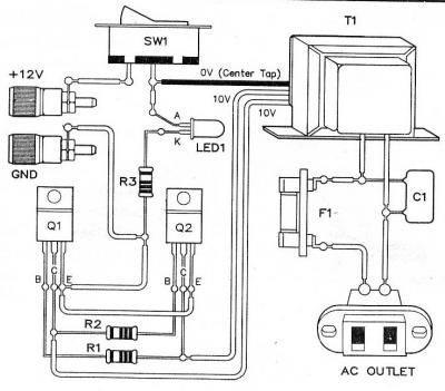Circuito de Micro Inversor de Tensão DC-AC 12v x 110v