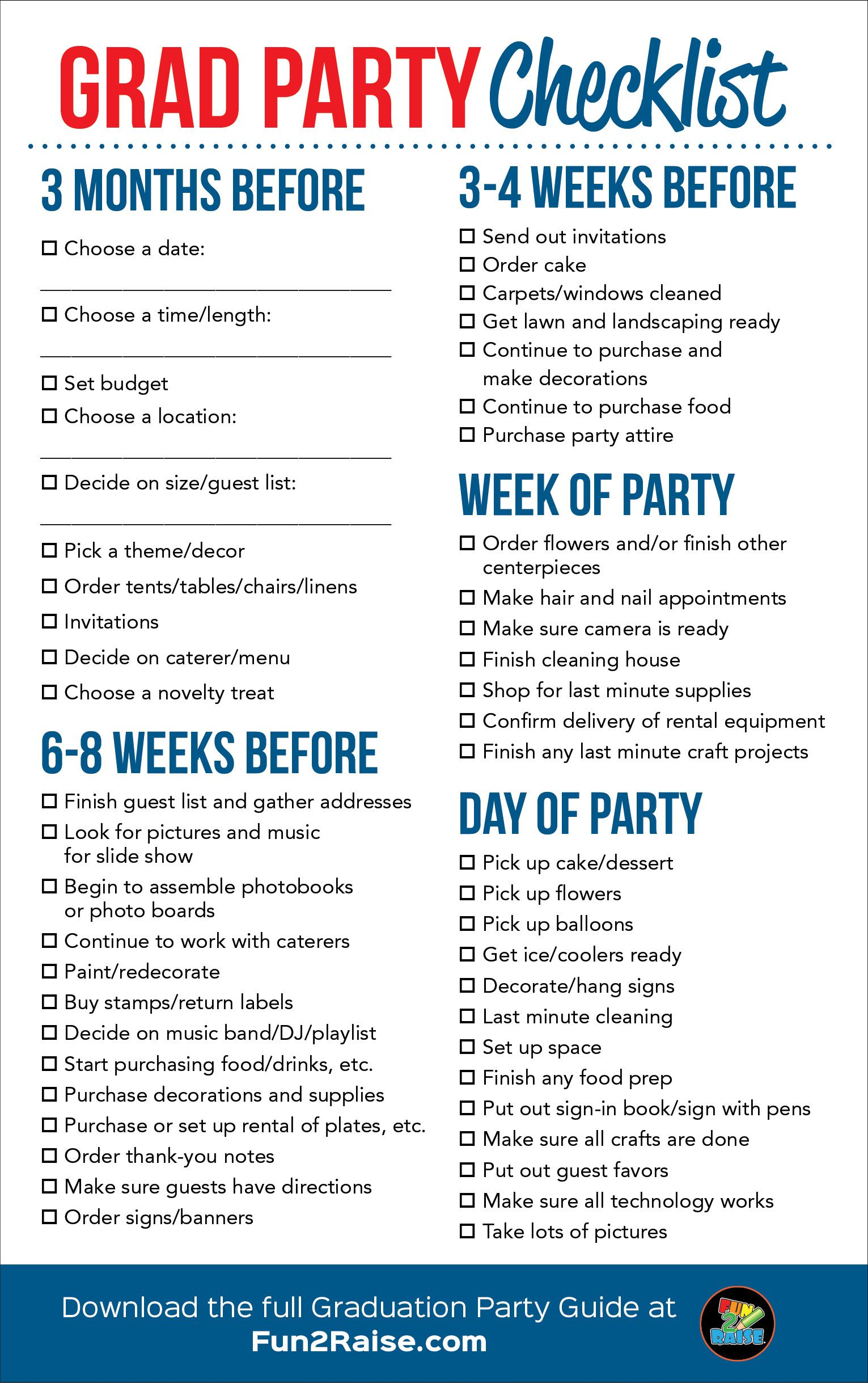 The Perfect Grad Party Checklist For More Helpful Tips On