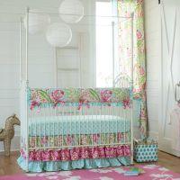 Kumari Garden Baby Crib Bedding | Carousel designs ...
