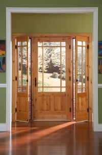 Ashworth(R) Entry Door with Venting Sidelites by Woodgrain