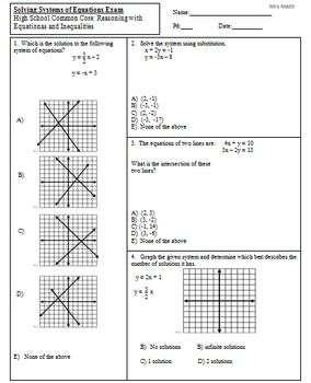 This item is a handout consisting of 22 test questions