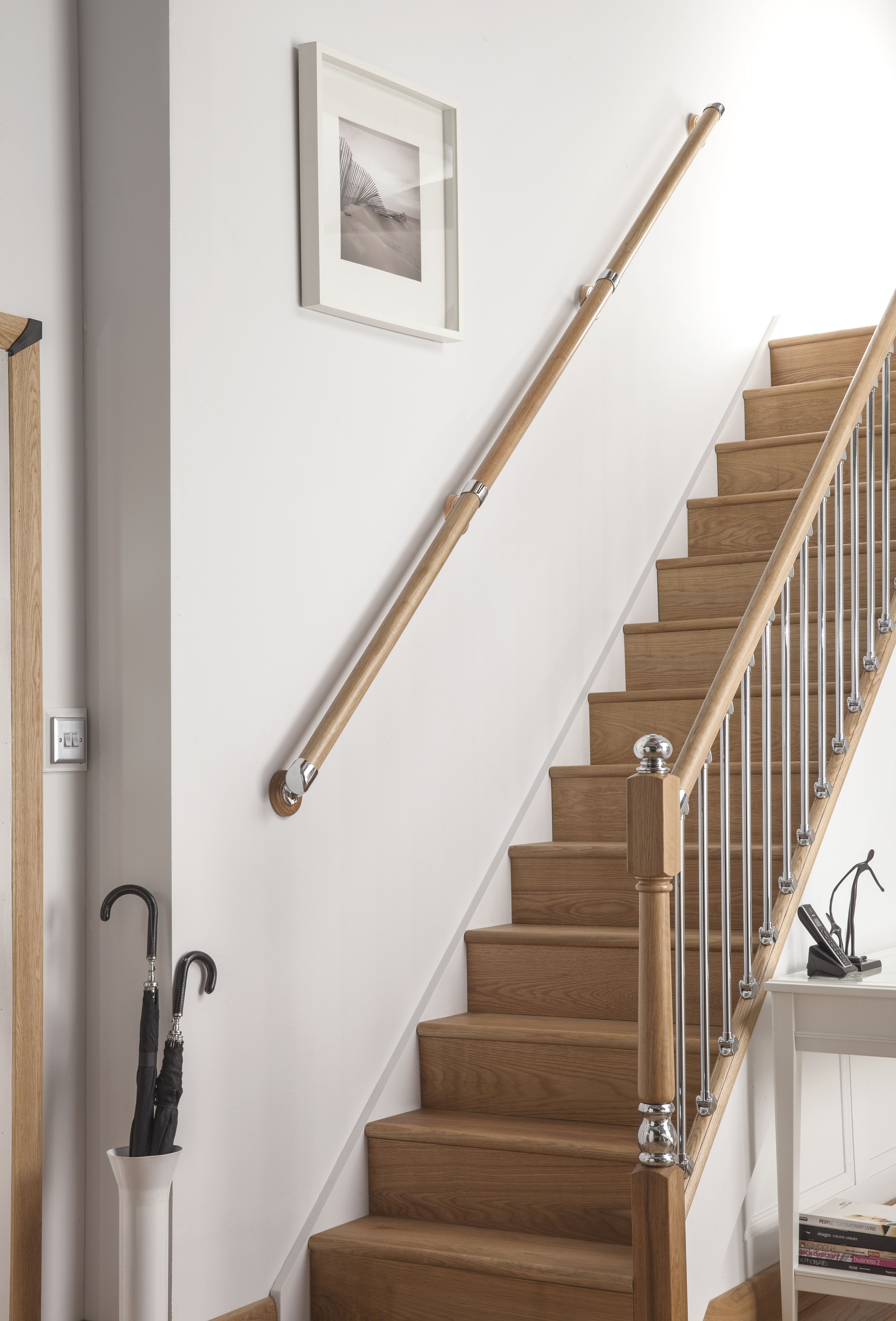 Wall Mounted Wooden Handrails